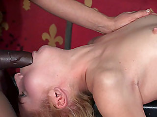 Gorgeous French blonde getting a bondage treatment from her captors