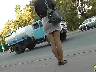 Get a load of this upskirt video in which this blonde with a nice ass and sexy legs could't dodge the camera.