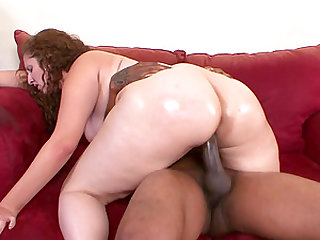 Big ass Sonia Blaze gets oiled up and fucked hard by a black guy