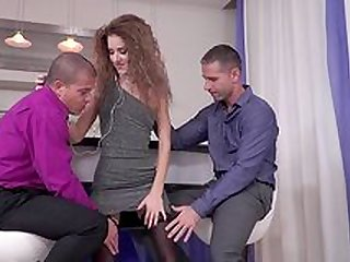 Curly Monique Woods doggy style deep penetration