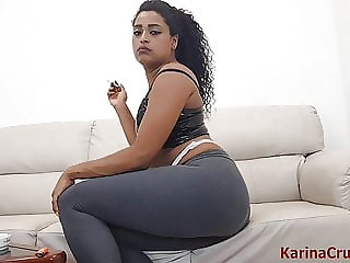 Hot Brunette Farting Shooting Yoga Pants