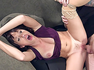 Hardcore anal bondage doggy fuck session with brunette Alana Cruise
