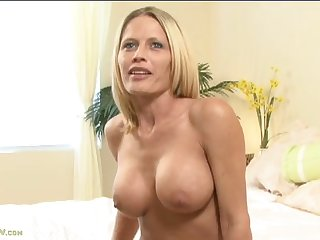 Topless milf chats and shows off those titties