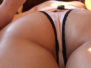 Sexy massage for a skinny girl in hot undies