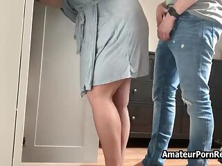 Horny Amateur Wife Fucked Behind Gets Dressed